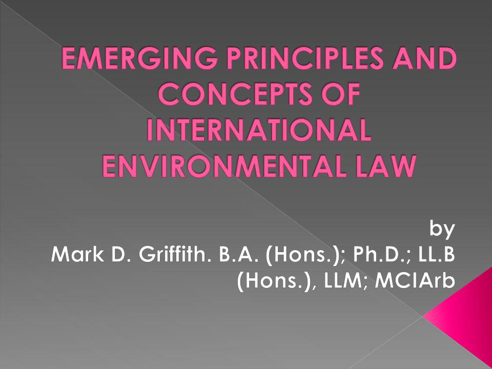 Overarching aim that gives rise to a multitude of legal mechanisms [prior assessment of environmental harm, licensing instruments, emission limits, environmental impact assessment etc.]