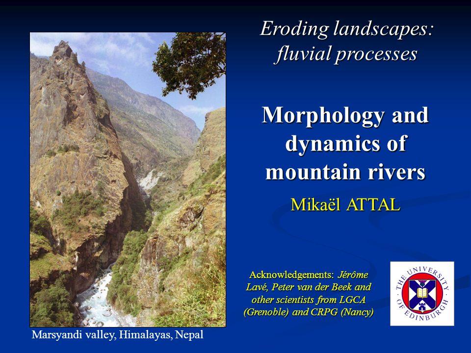 Simplistic model.Threshold for erosion. Role of sediments.