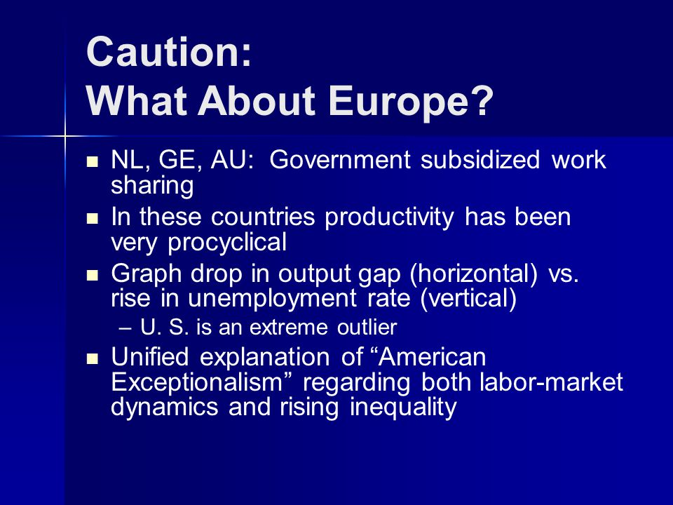 Caution: What About Europe.