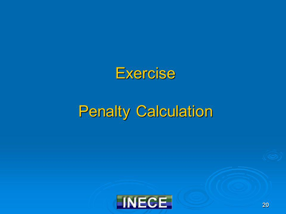 20 Exercise Penalty Calculation