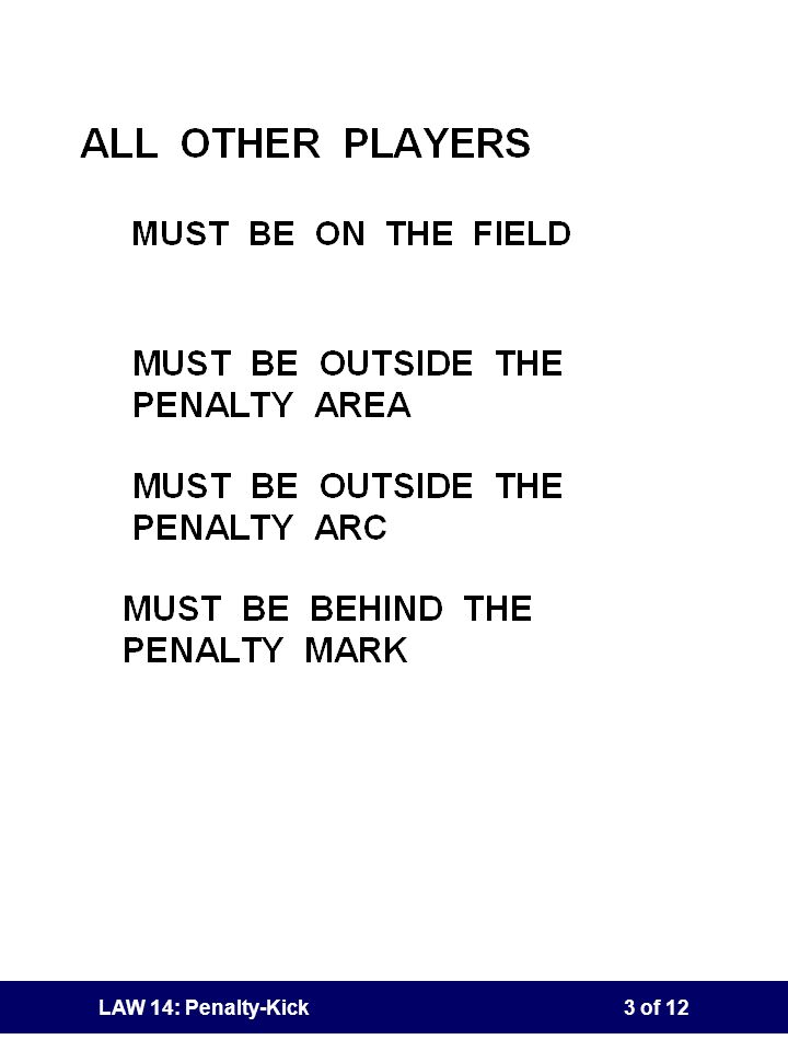 LAW 14: Penalty-Kick2 of 12