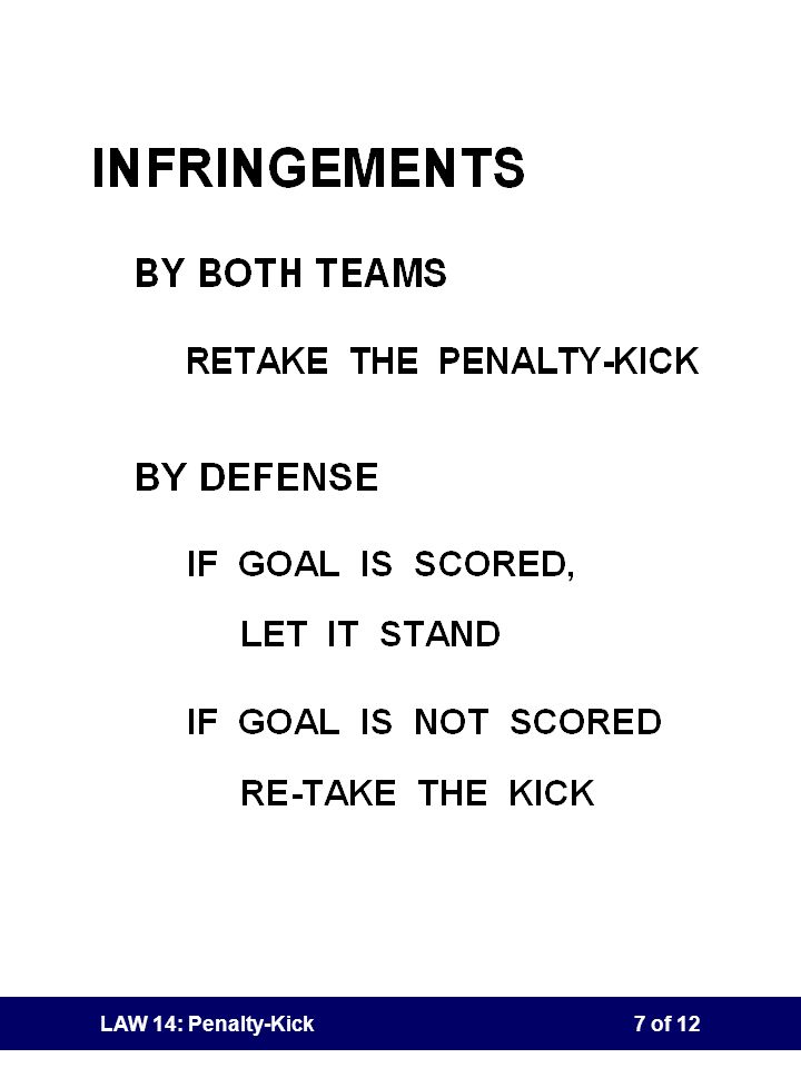 Teaching Note LAW 14: Penalty-Kick(HIDDEN SLIDE)