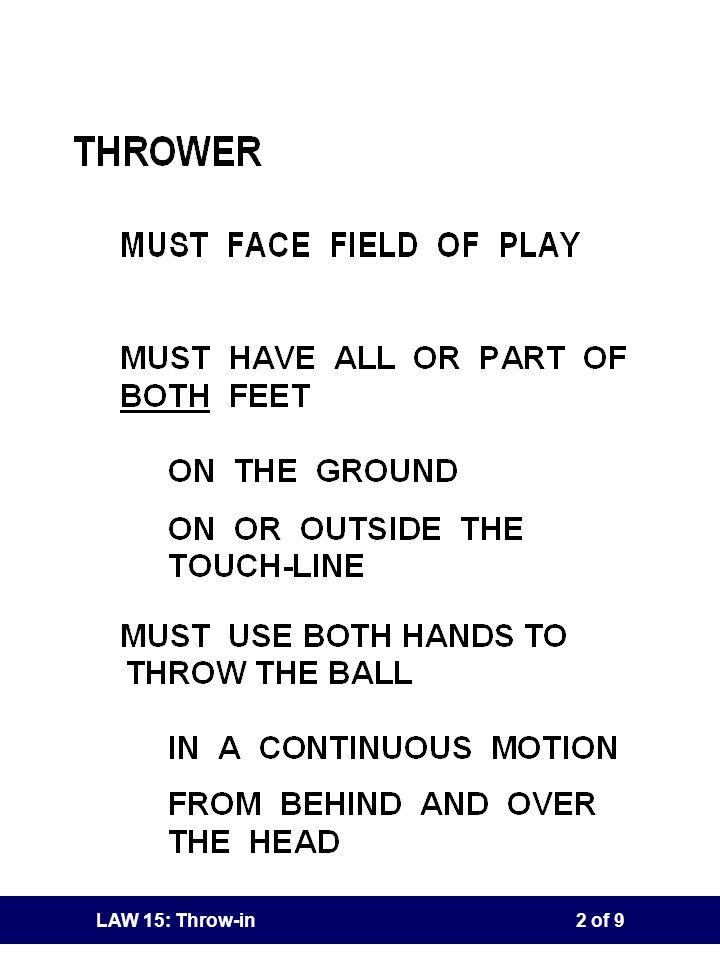LAW 15: Throw-in1 of 9