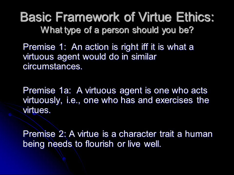 What is Virtue Ethics.
