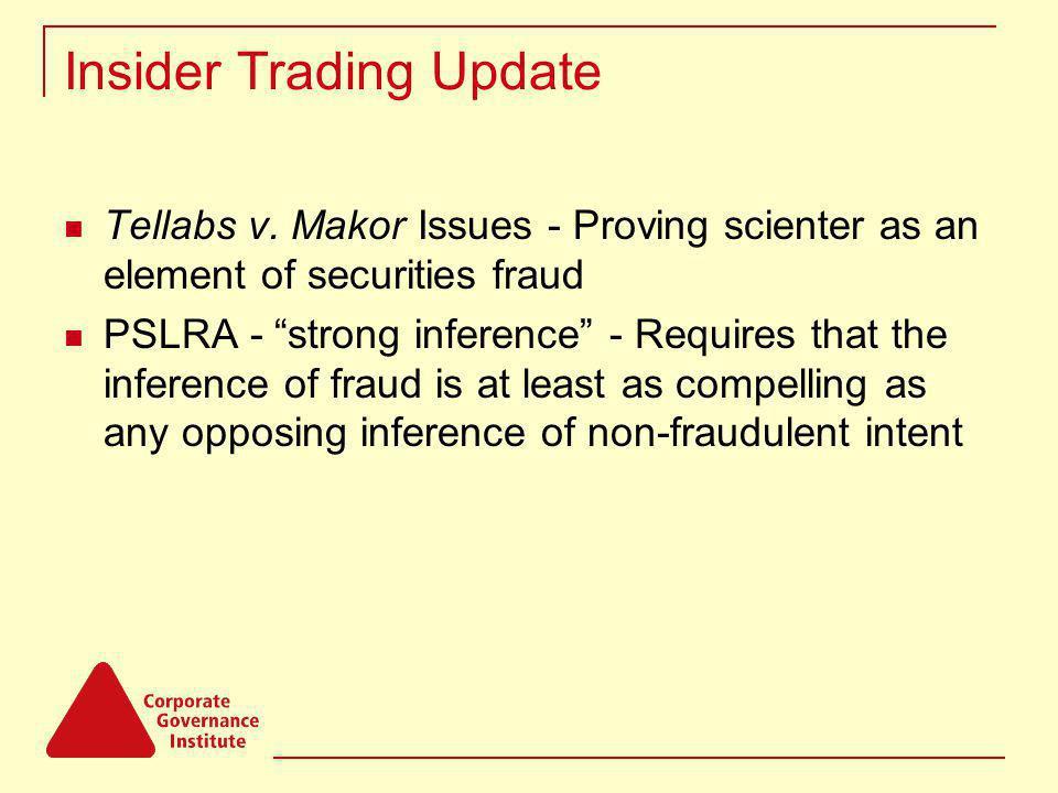 Insider Trading Update Tellabs v.