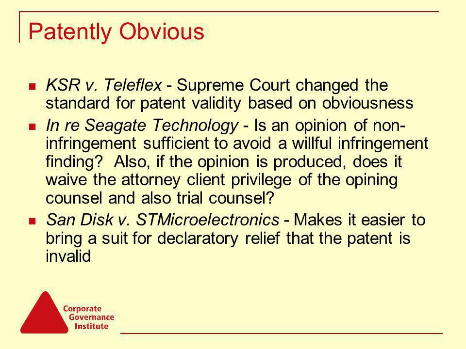 Patently Obvious KSR v.