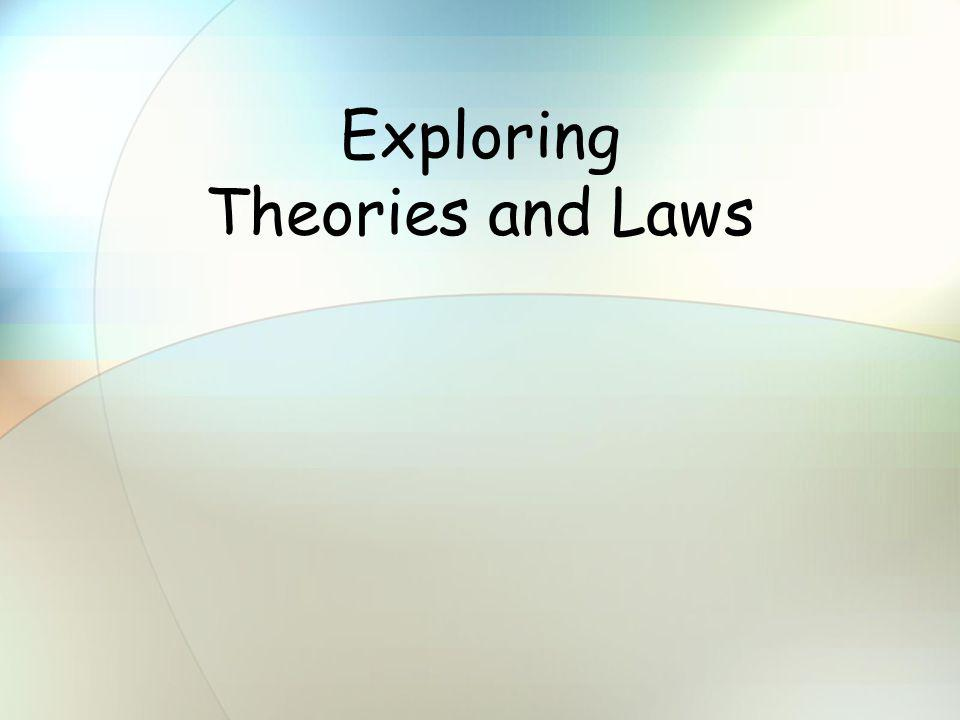 Exploring Theories and Laws