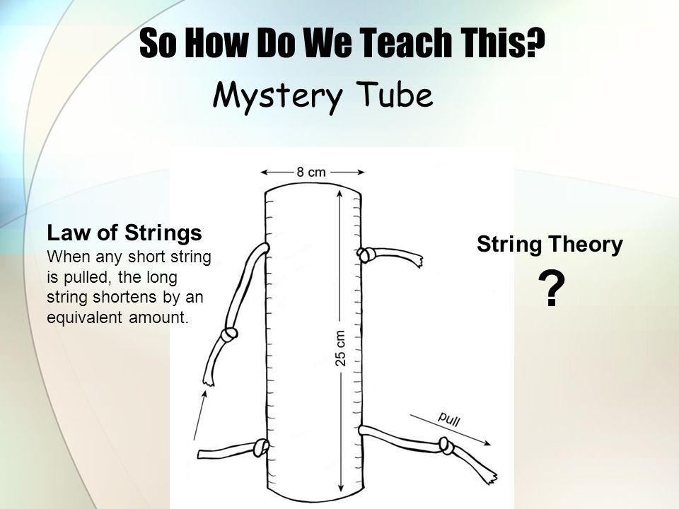 Mystery Tube So How Do We Teach This.
