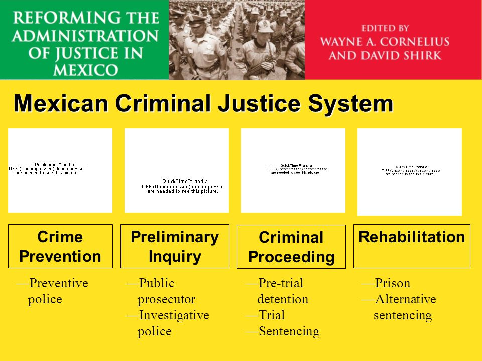 Calderóns Rule of Law Agenda 1.Improved criminal analysis 2.Reducing common crime 3.Police reform 4.Combating organized crime 5.Judicial sector reform 6.Transparency & accountability 7.Stronger victim protections