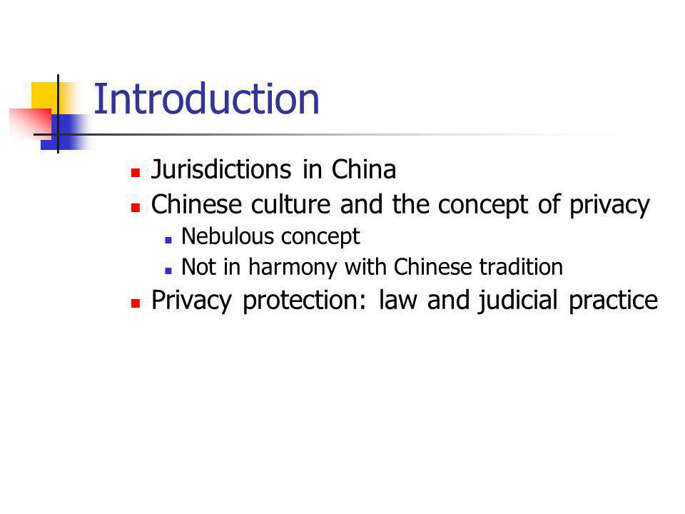 Data Privacy law in China-Hong Kong The Personal Data Privacy Ordinance: Scope Public sectors and private users Exemptions Public and social interests media, employment etc.