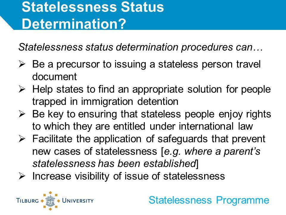 Statelessness Status Determination.