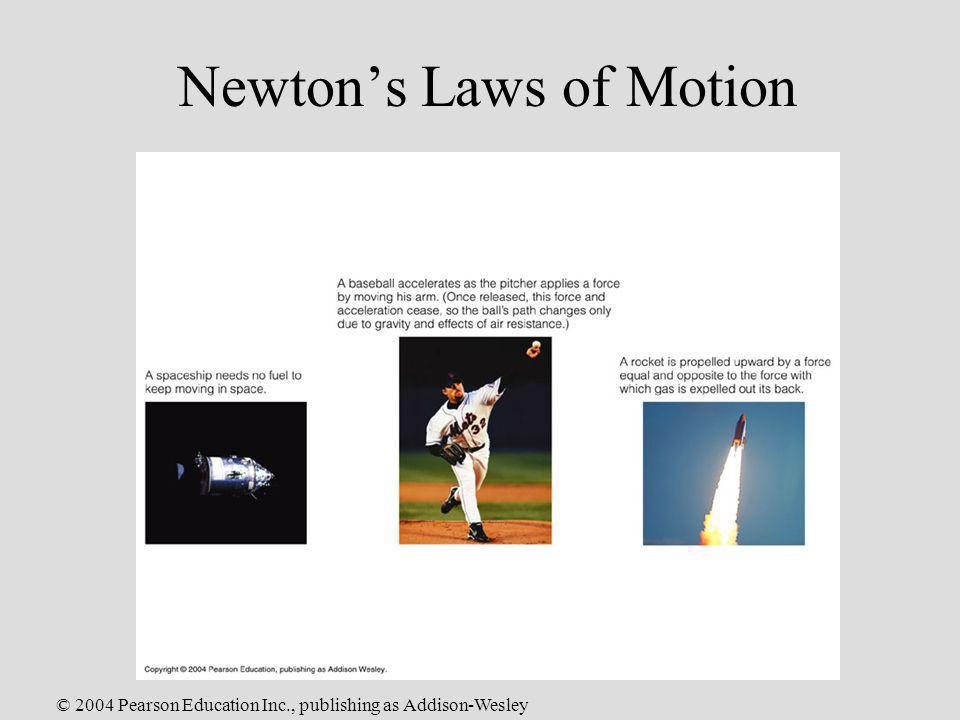 © 2004 Pearson Education Inc., publishing as Addison-Wesley Newtons Laws of Motion