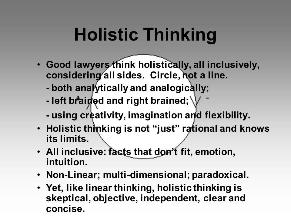 Holistic Law and Thinking can be a Spiritual Way For Anyone.