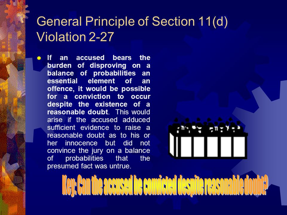Content of the Presumption of Innocence p.2-25 1.