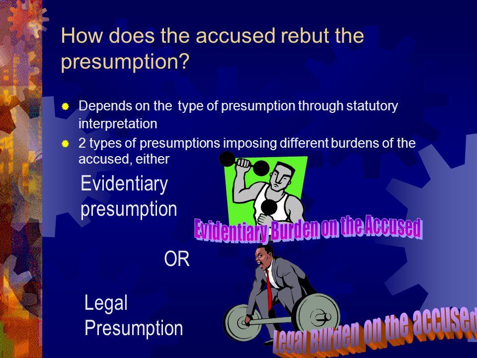 Types of Presumptions Presumptions with basic facts and presumptions without basic facts Basic fact presumptions may be permissive Mandatory basic fac