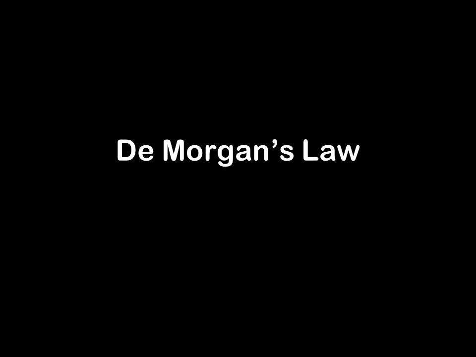 De Morgans Law