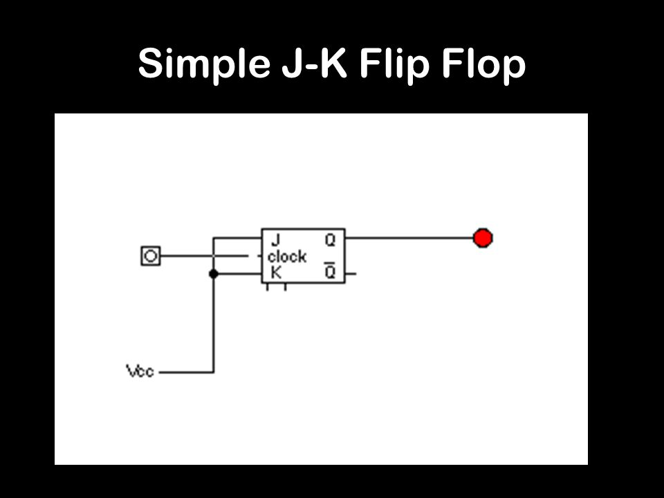 Simple J-K Flip Flop