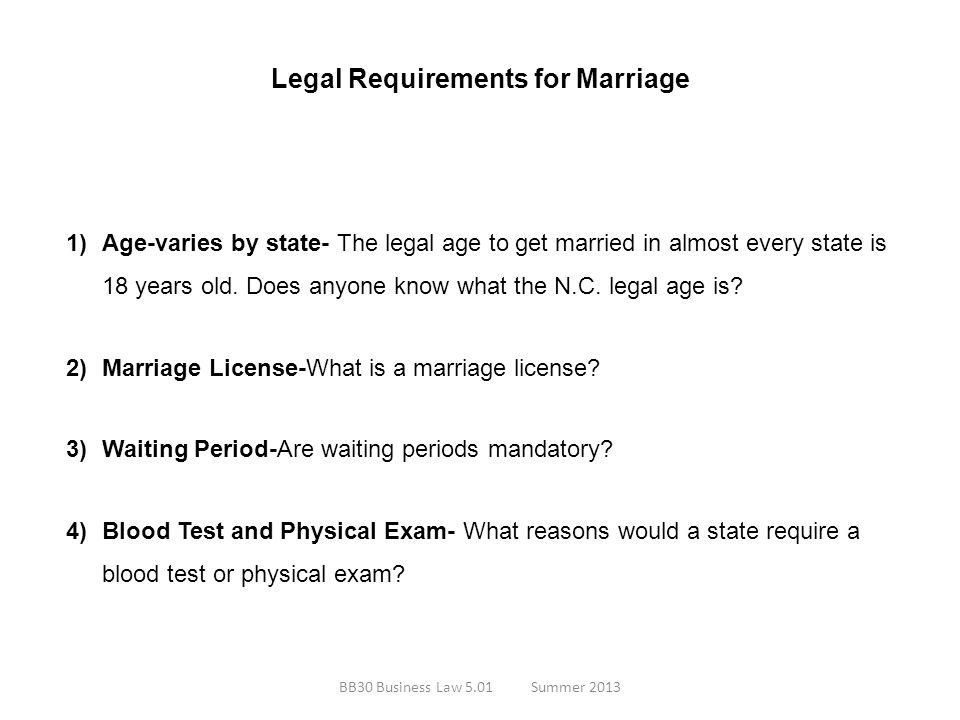Legal Requirements for Marriage Legal Ways to End a Marriage 1)Annulment- What is an annulment.