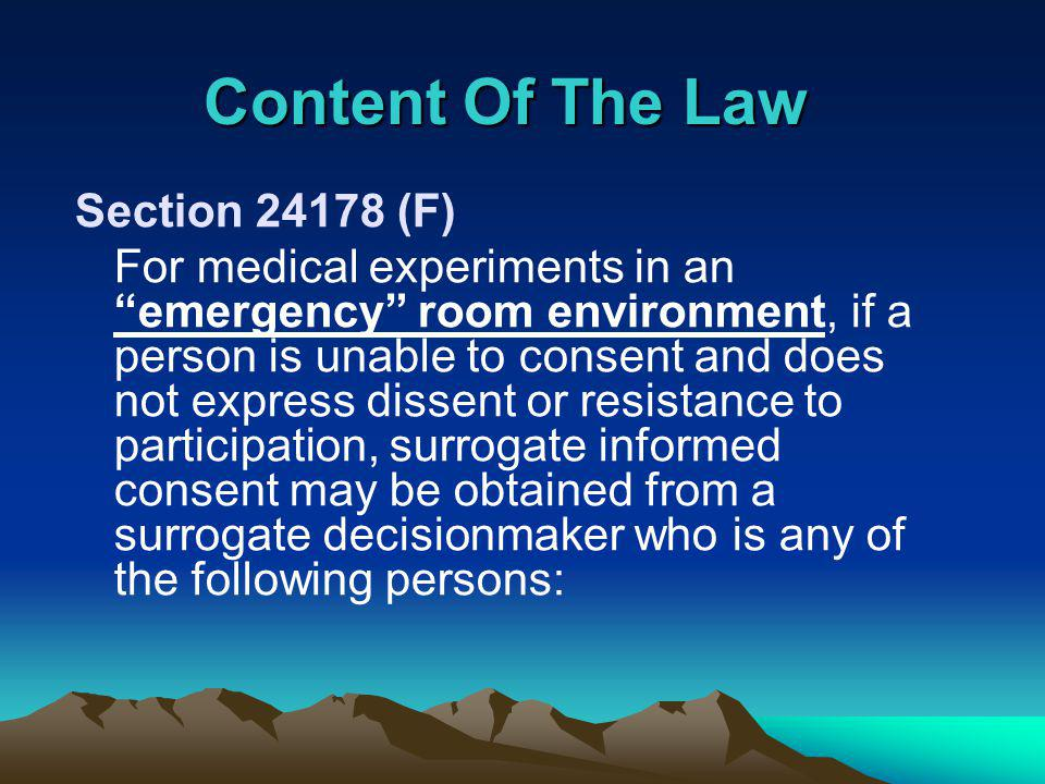 How Is The New Law Implemented In Our Research Environment.