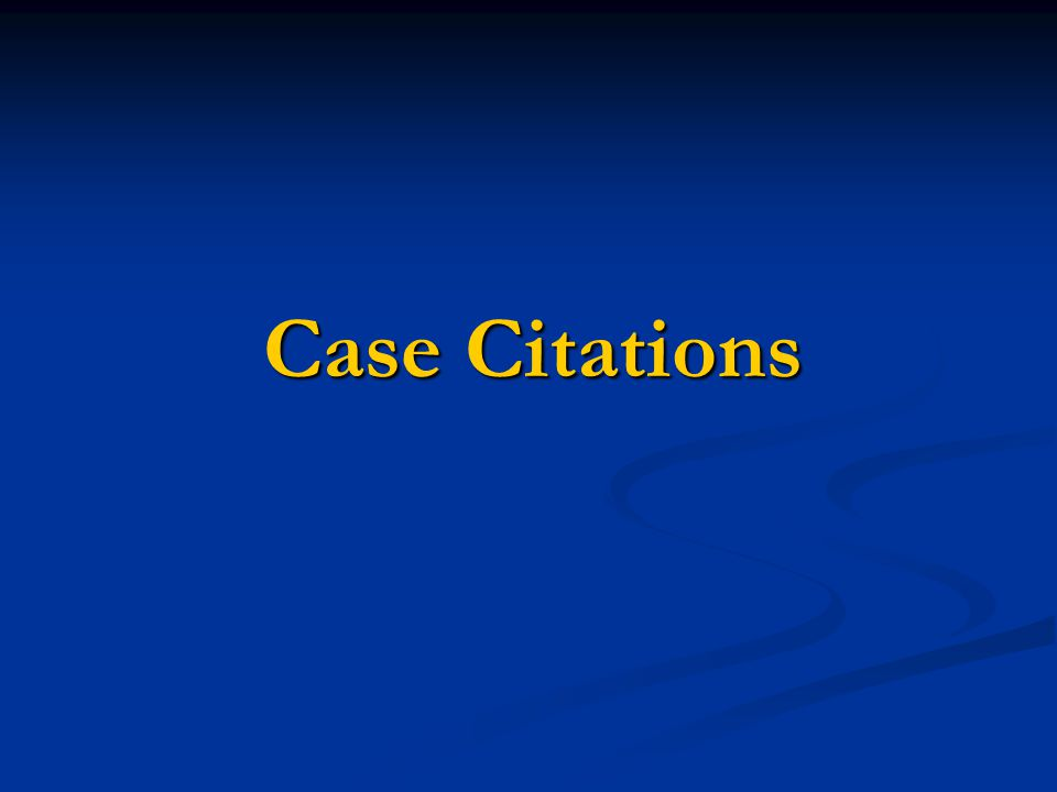 Case Citations