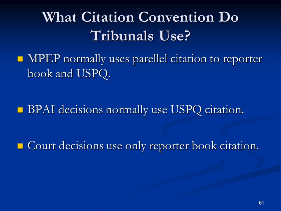 61 What Citation Convention Do Tribunals Use.