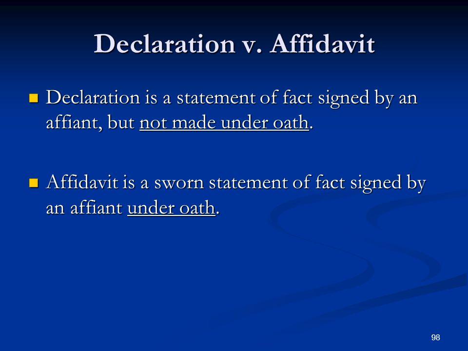 98 Declaration v.