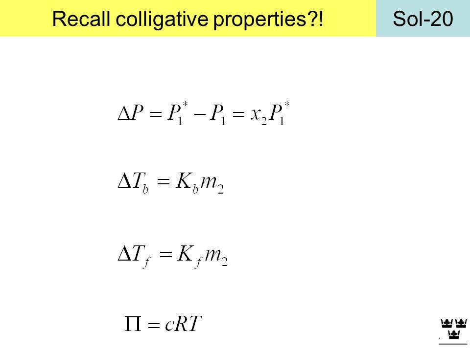 Sol-20Recall colligative properties?!