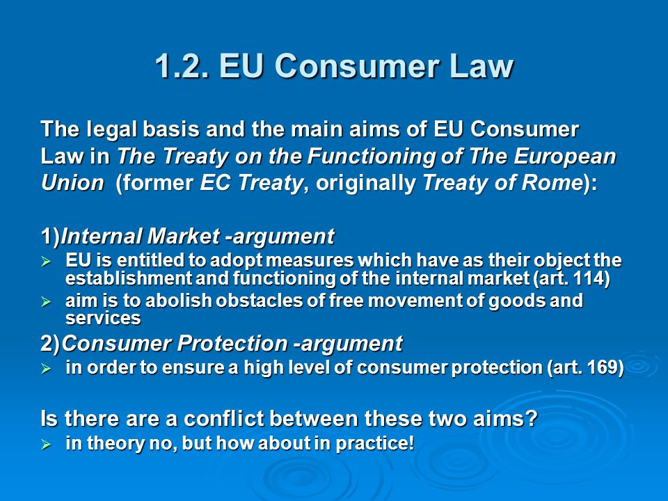 3) if full harmonisation of the national legal rules may not be achieved, the choice between home and target country principle still remains relevant from the viewpoint of consumer protection in the home country principle the lawfulness of marketing may be determined by a country in which the level is lowest if the trader is domiciled in that country in the home country principle the lawfulness of marketing may be determined by a country in which the level is lowest if the trader is domiciled in that country 4) is UCPD based on home or target country principle.