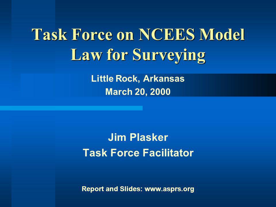 Task Force on NCEES Model Law Regulatory Interest Levels (cont.)