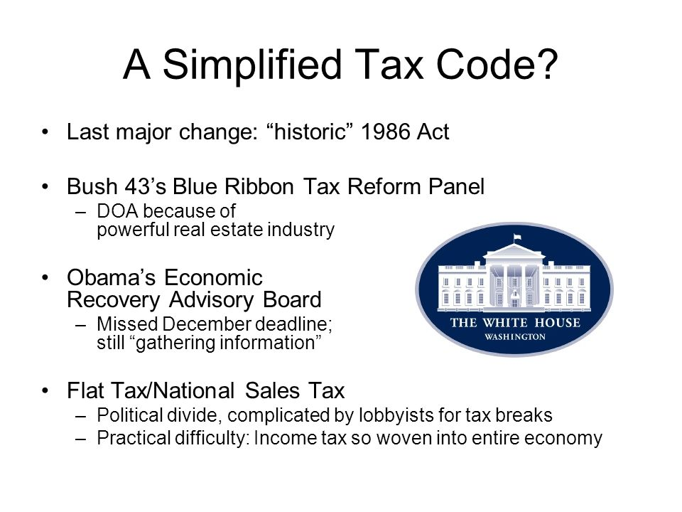 A Simplified Tax Code.