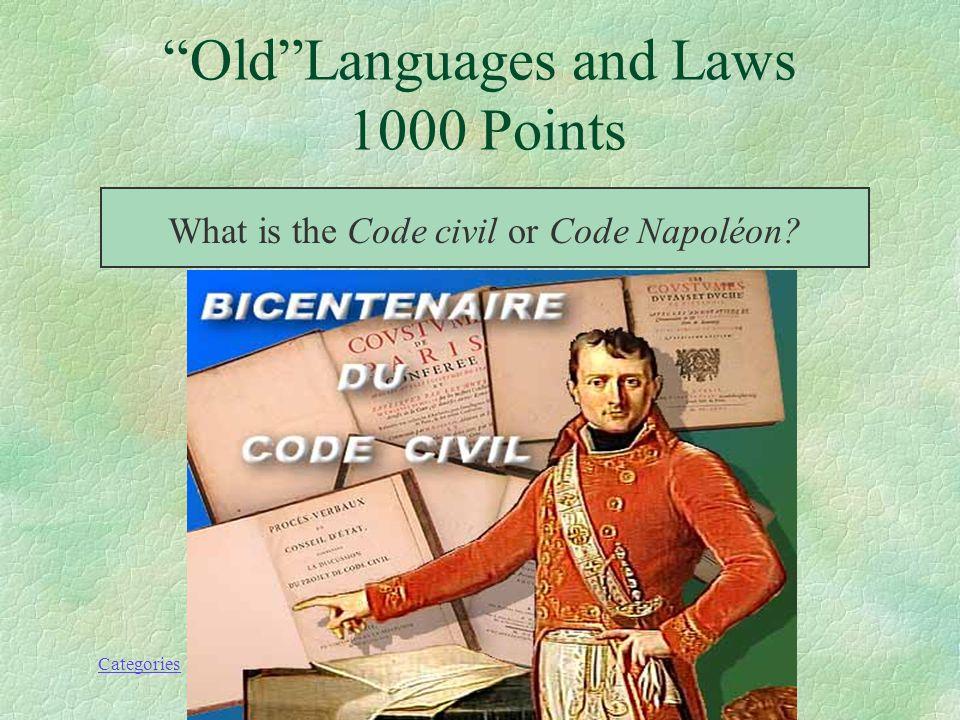 Categories This code was drafted by François Tronchet, Félix Julien Jean Bigot de Préameneu, Jean-Étienne-Marie Portalis, and Jacques de Maleville and enacted in 1804.
