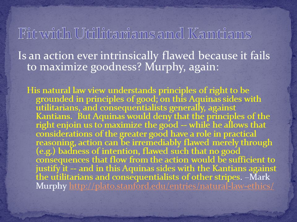 Is an action ever intrinsically flawed because it fails to maximize goodness.