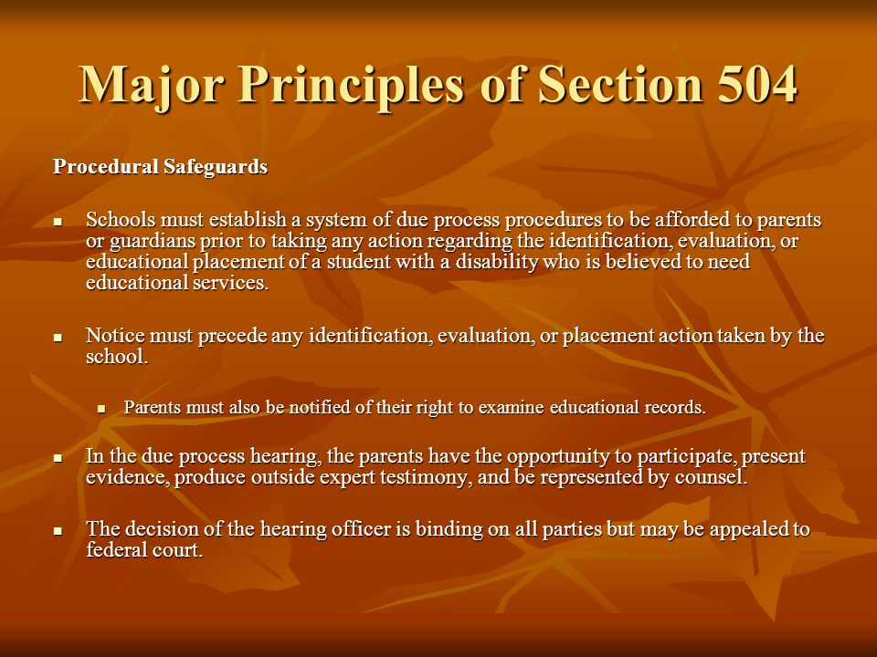 School District Responsibilities Under Section 504 Administrative Responsibilities: Appointing a Section 504 Coordinator: Appointing a Section 504 Coordinator: School districts with 15 or more employees must appoint a Section 504 Coordinator.