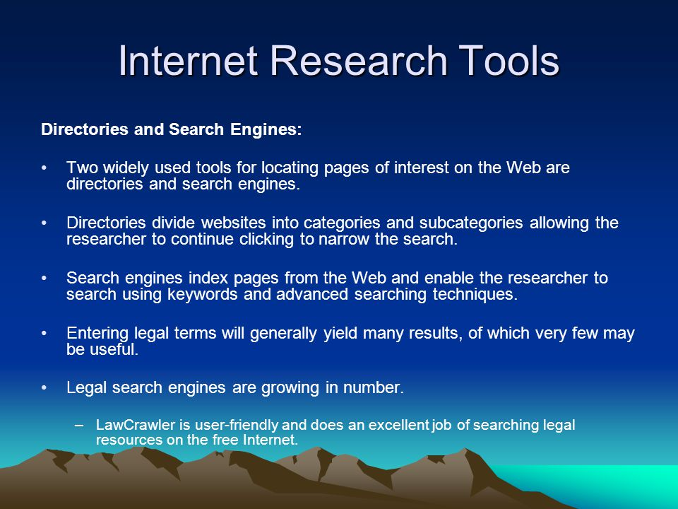 Internet Research Tools Online Communities: Electronic mail, or e-mail, allows one user on the Internet to send messages to other users on the Internet.