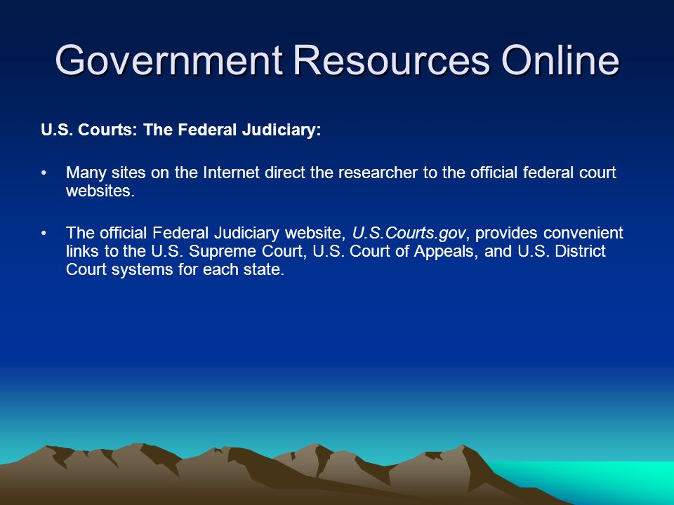 Government Resources Online FirstGov: In 2000, the U.S.