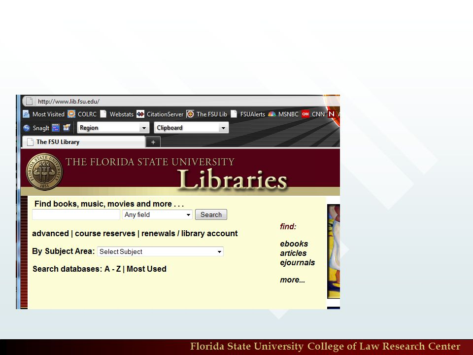 Florida State University College of Law Research Center