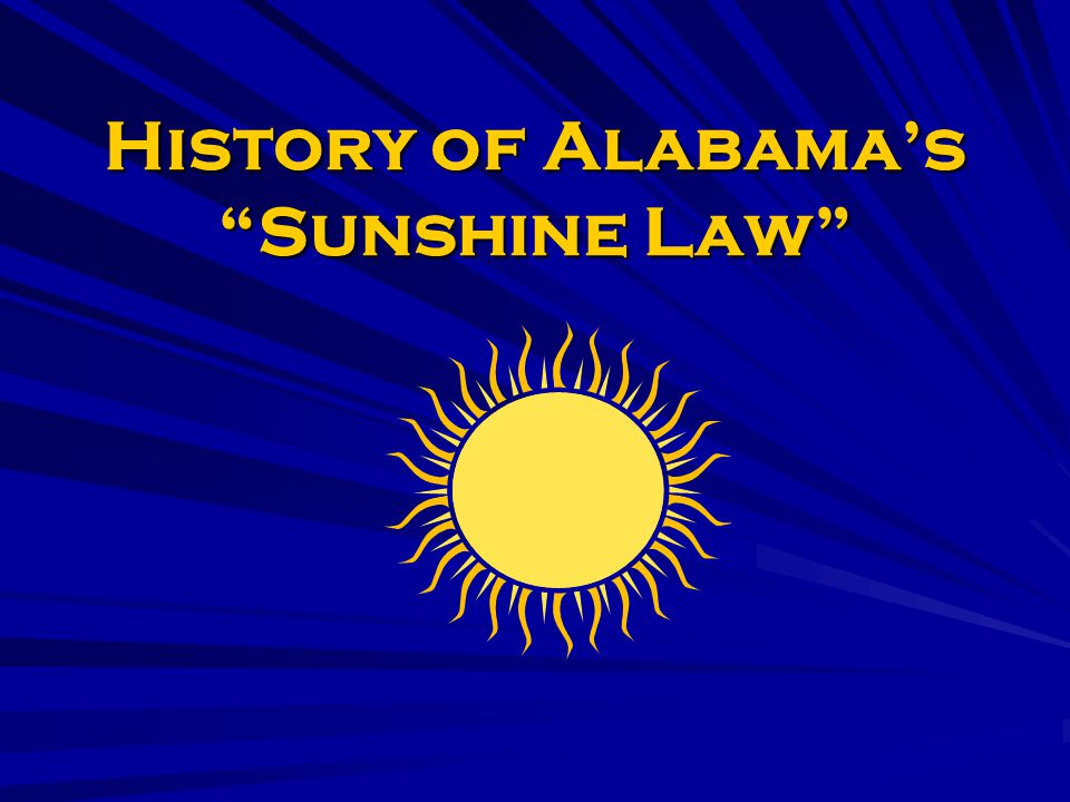History of Sunshine Law: Open meetings of some entities required before Sunshine Laws.