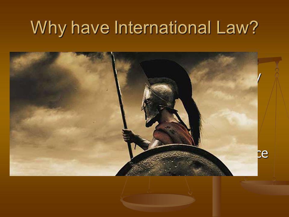 Why have International Law.