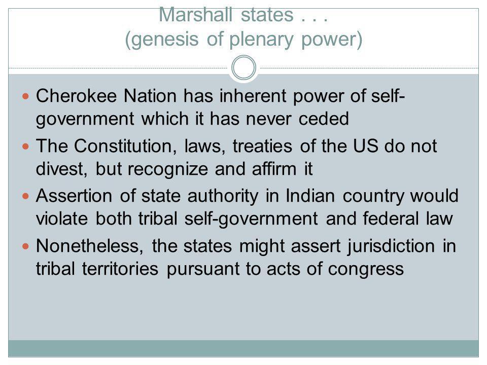 Marshall states...