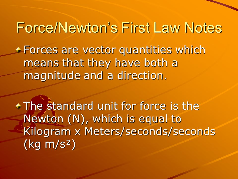 Force/Newtons First Law Notes Force diagrams are visual representations of objects with force vectors drawn emanating from the center of the object and pointing in the direction of the force.
