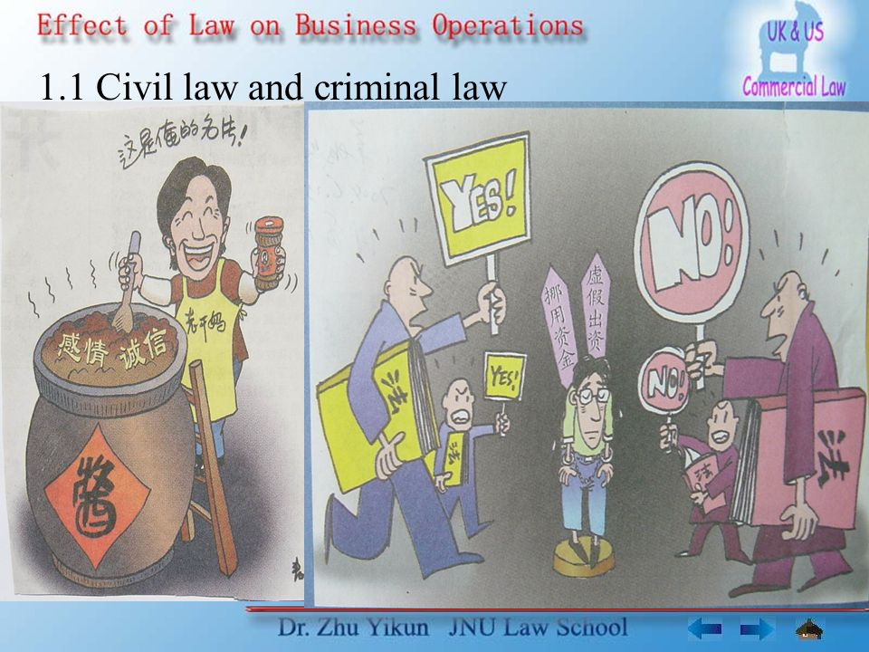 1.1 Civil law and criminal law