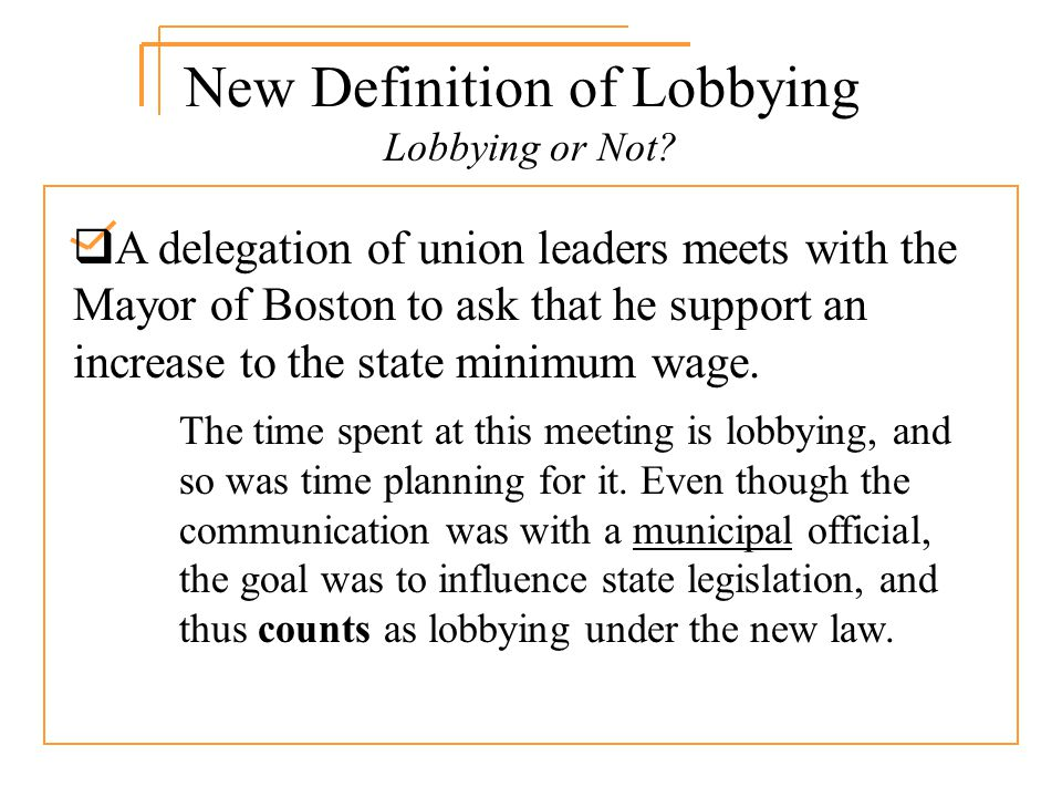 Lobbying or Not.