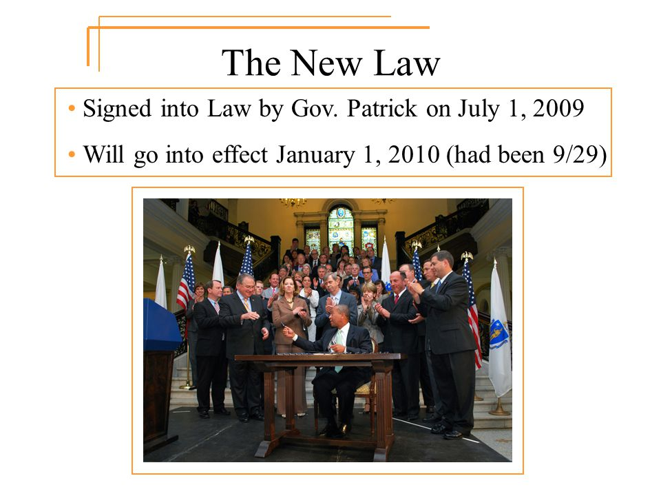 The New Law Signed into Law by Gov.
