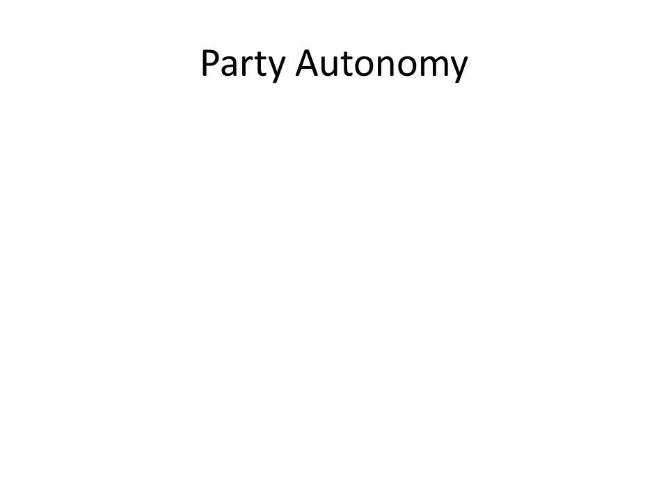 Party Autonomy