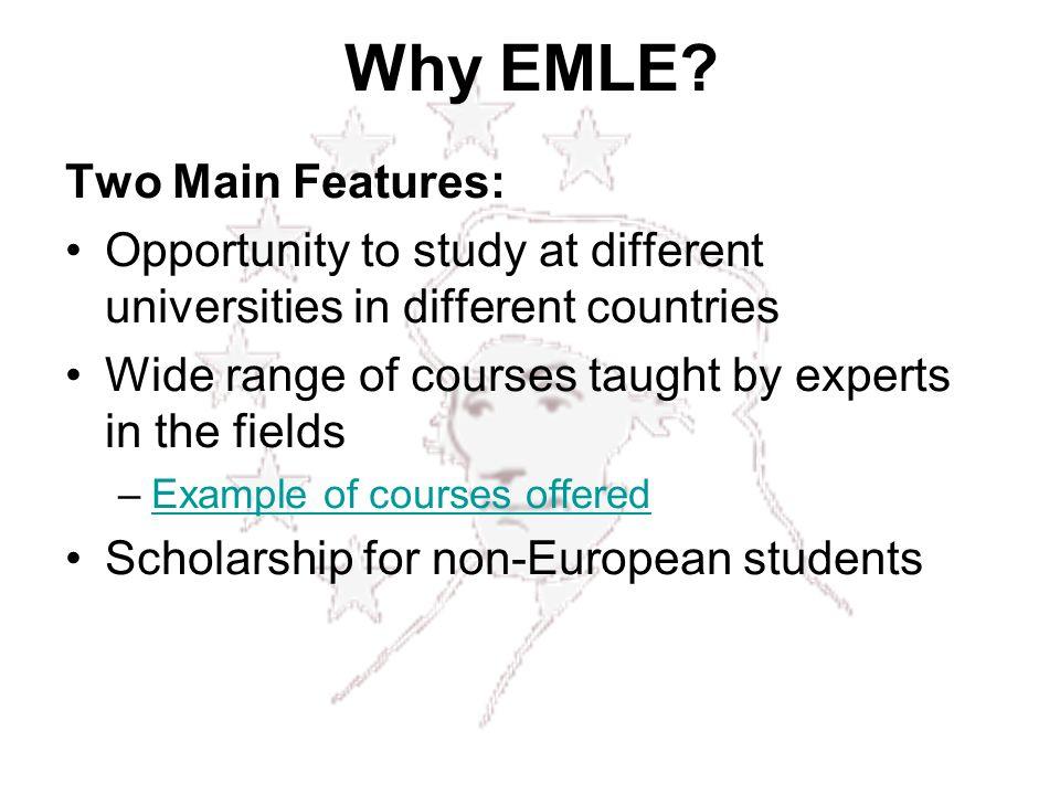 Why EMLE.
