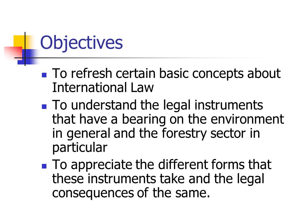 An Introduction to International Law Article 253 Power of the Parliament to enact a legislation on a matter listed in the State list For implementing an international convention The Environmental Protection Act, 1986 The Biological Diversity Act, 2002.