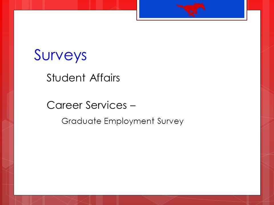 Surveys Student Affairs Career Services – Graduate Employment Survey
