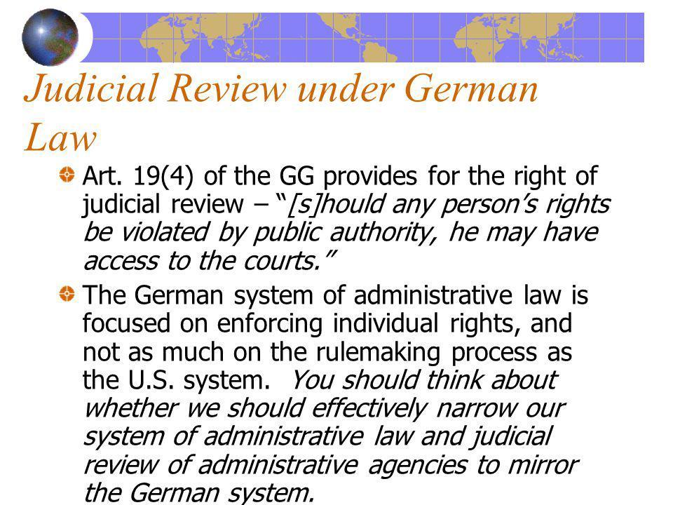 Judicial Review under German Law Art.