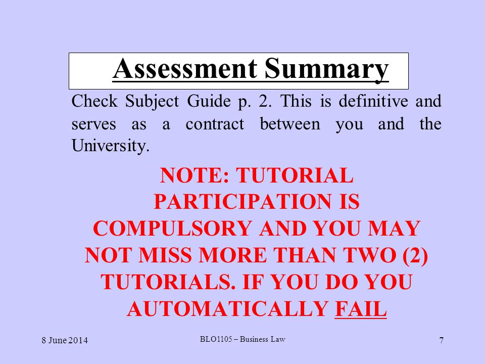 8 June 2014 BLO1105 – Business Law 58 Summary of Testing ( for Intention ) We can solve any problem on this question (whether intention exists) by following this strategy:- 1.
