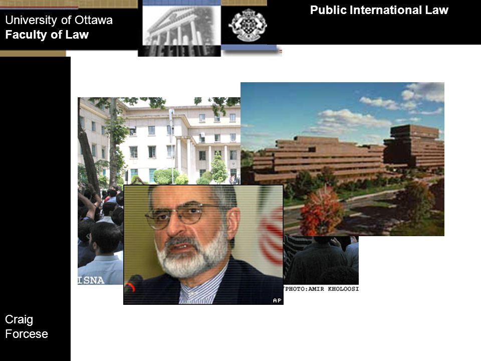 Craig Forcese Public International Law University of Ottawa Faculty of Law Customary principles that apply within a region and not universally Rights of Passage Case: Long history of practice Asylum Case Peru not shown to have accepted practice Sources of International Law Customary International Law: Regional Customary Law